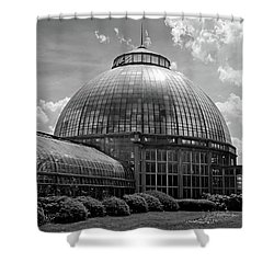 Belle Isle Conservatory 3 Bw Shower Curtain
