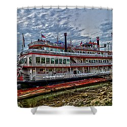 Belle Of Cincinnati Shower Curtain by Keith Allen