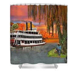 Belle Of The Bayou Shower Curtain by Glenn Holbrook