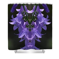 Shower Curtain featuring the photograph Bellfower Mandala  by Lyle Crump