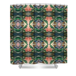 Belly Dance Mirror Image Shower Curtain