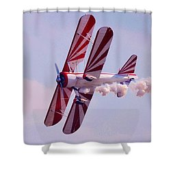Belly Of A Biplane Shower Curtain