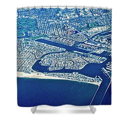 Belmont Shore And Naples Shower Curtain