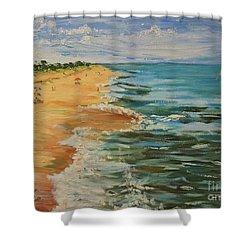 Beloved Beach - Sold Shower Curtain by Judith Espinoza
