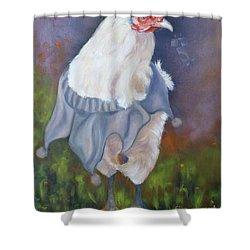 Beloved Chicken Shower Curtain