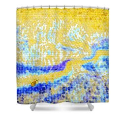 Beloved Shore Shower Curtain by Mathilde Vhargon