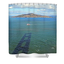 Below And Beyond The Golden Gate Bridge Shower Curtain