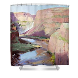 Below Palouse Falls Shower Curtain