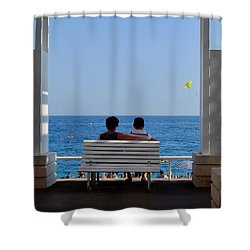 Below Sea Level Shower Curtain