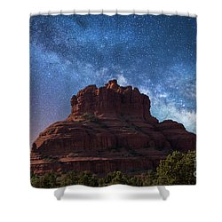 Below The Milky Way At Bell Rock Shower Curtain