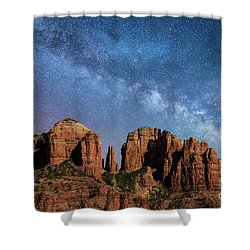 Below The Milky Way At Cathedral Rock Shower Curtain