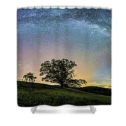 Below The Milky Way At The Blue Ridge Mountains Shower Curtain