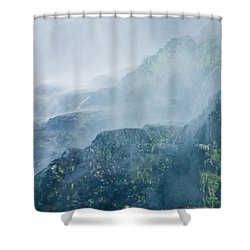 Below Wallace Falls Shower Curtain
