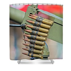 Shower Curtain featuring the photograph Belt Of Rounds by Chris Dutton
