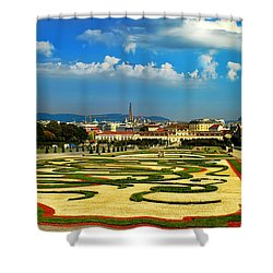 Shower Curtain featuring the photograph Belvedere Palace Gardens by Mariola Bitner