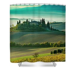 Belvedere - Tuscany II Shower Curtain by Brian Jannsen