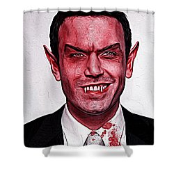 Ben Affleck Shower Curtain by Gene Spino