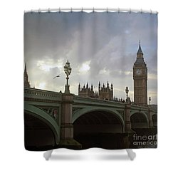 Shower Curtain featuring the photograph Ben And The Bridge by Sebastian Mathews Szewczyk