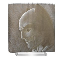 Ben As Batman Shower Curtain by Josetta Castner