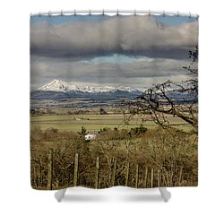 Shower Curtain featuring the photograph Ben Ledi Across The Carse by RKAB Works
