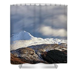 Shower Curtain featuring the photograph Ben Lomond by Grant Glendinning