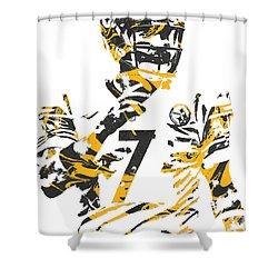 Ben Roethlisberger Pittsburgh Steelers Pixel Art 4 Shower Curtain