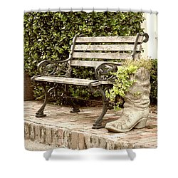 Bench And Boot 2 Shower Curtain
