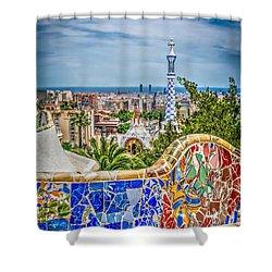 Bench Of Barcelona Shower Curtain