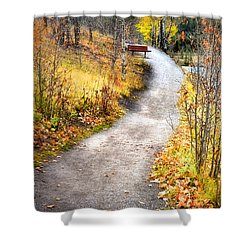 Bench On A Hill Shower Curtain
