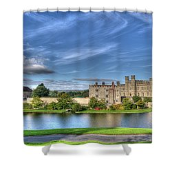 Bench View Of Leeds Castle Shower Curtain