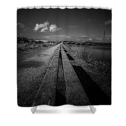 Benches Shower Curtain