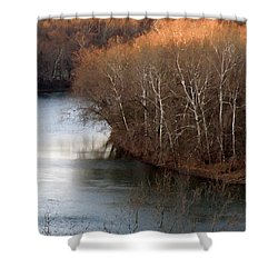 Bend In The Potomac Shower Curtain