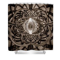 Beneath The Arches Of Pont Bordeleau Bridge - Bw Shower Curtain