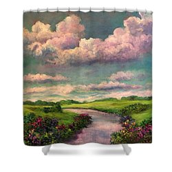 Beneath The Clouds Of Paradise Shower Curtain