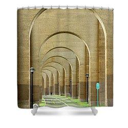 Beneath The Hellgate Shower Curtain