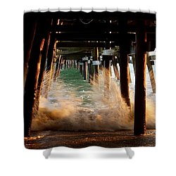 Beneath The Pier Shower Curtain