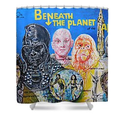 Beneath The Planet Of The Apes - 1970 Lobby Card That Never Was Shower Curtain