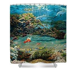 Beneath The Sea Shower Curtain by Ruanna Sion Shadd a'Dann'l Yoder