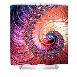 Beneath The Sea Spiral Shower Curtain by Kathy Kelly