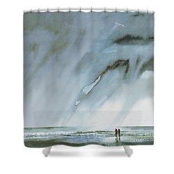 Beneath Turbulent Skies Shower Curtain