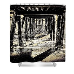 Beneath Shower Curtain by William Wyckoff