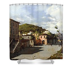 Provincia Di Benevento-italy Small Town The Road Home Shower Curtain