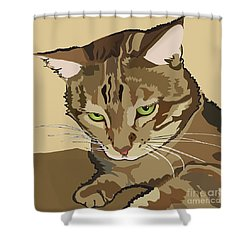 Bengal Kitty Pet Portrait Shower Curtain