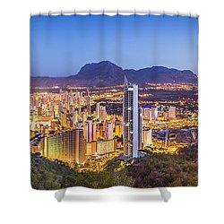 Benidorm At Sunrise, Spain. Shower Curtain
