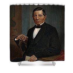 Benito Juarez (1806-1872) Shower Curtain by Granger