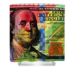 Benjamin Franklin $100 Bill - Full Size Shower Curtain