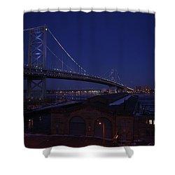 Benjamin Franklin Bridge Shower Curtain