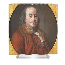Benjamin Franklin Shower Curtain by Jean Valade