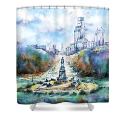 Benjamin Franklin Parkway 2 Shower Curtain