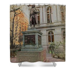 Benjamin Franklin Sketch Shower Curtain